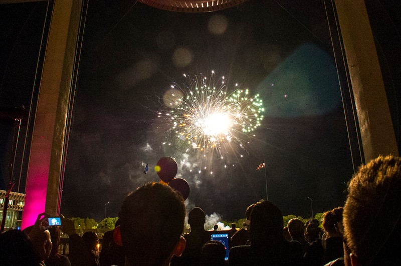 August 2012 - The Welcome Candle-lighting ceremony always dazzles with its fireworks display.<br /> Photographer: Mark Schmidt