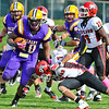 October 2012 - Over Homecoming Weekend, the Great Danes soundly defeat St. Francis 36-13.  The football team earned its sixth NEC title.<br /> Photo courtesy UAlbany Athletics