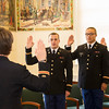 May 2013 - Cadets are sworn in at the ROTC Commissioning Ceremony.<br /> Photographer: Mark Schmidt