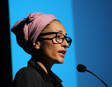 Author Zadie Smith at Bryn Mawr College on Oct. 9, 2013. Credit: Photography by Peter Tobia
