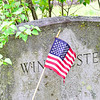 KRISTOPHER RADDER — BRATTLEBORO REFORMER<br /> Students from St. Michael's Catholic School, in Brattleboro, Vt., help put American flags at the gravesites of veterans around the community on Monday, May 18, 2020.