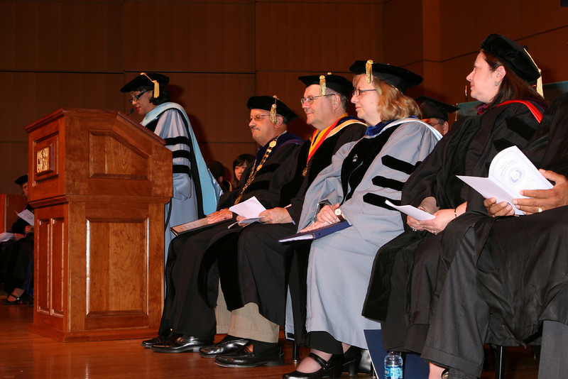 L-R: Dr. A. Ramona Brown, Vice President for Student Affairs; Dr. Tomas D, Morales, President; Dr. William J. Fritz, Provost/Senior Vice President for Academic Affairs; Dr. Susan Holak, Associate Provost for Institutional Effectiveness; Dr. Ann Lubrano, Interim Associate Provost for Undergraduate Studies and Academic Affairs.