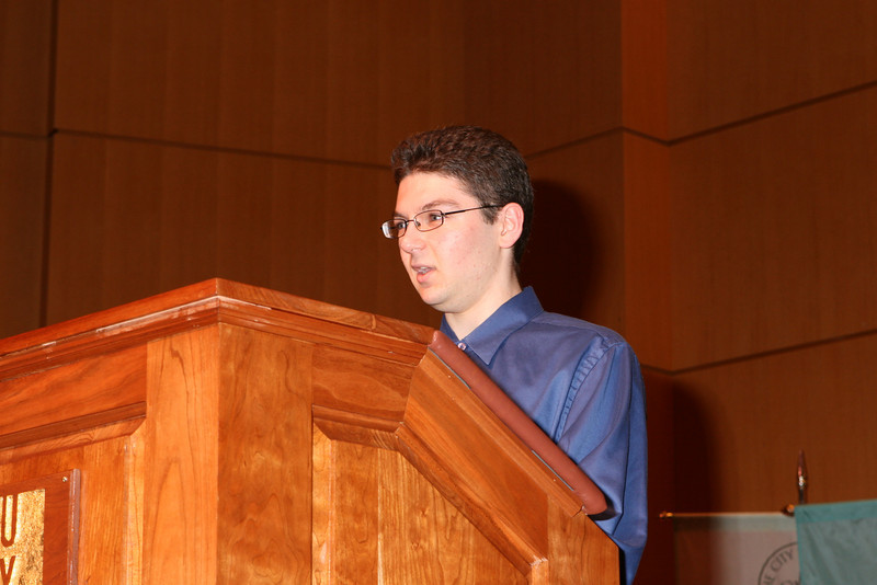 Eugene Lempert, Science and Technology, Student Speaker