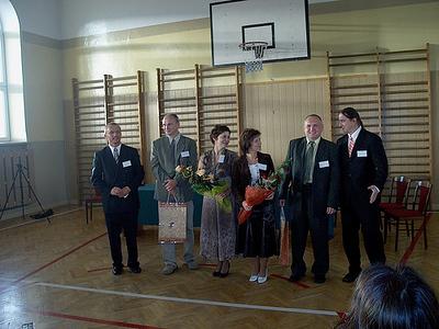 Pomyslodawca i organizatorzy zjazdu,  Od lewej: Krzysztof Jankowski, Leszek Borkowski, Grażyna Smakosz, Ewa Idźkowska, Dariusz Wawrentowicz, Andrzej Rusewicz