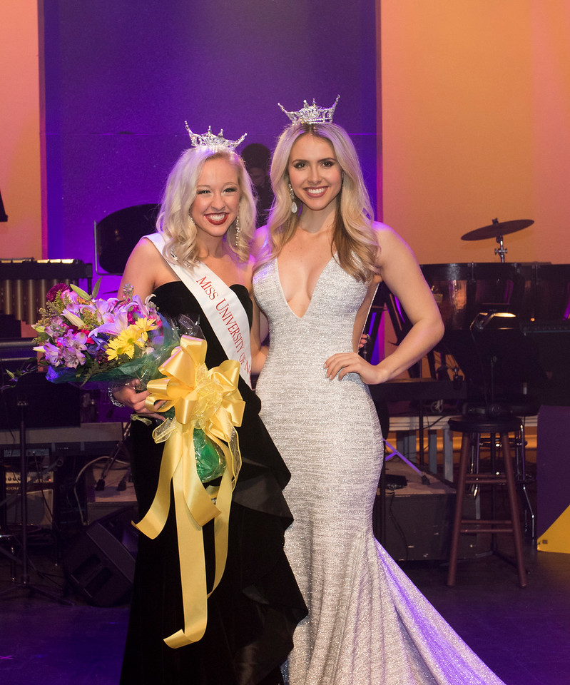 Miss UNA with Miss Alabama