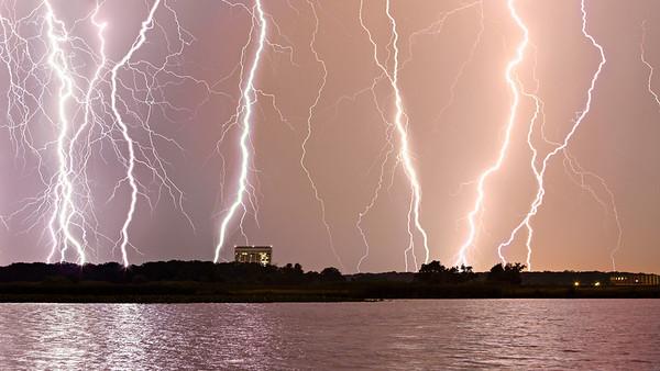 Lightning Striking All Around Fermilab #2