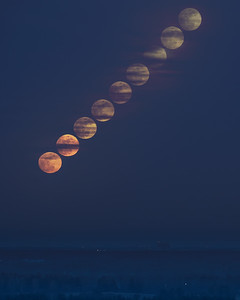 Moonrise Partial Eclipse