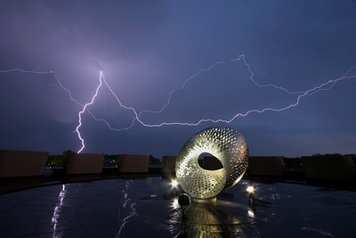 Mobius Sculpture & Lightning - Fermilab; Batavia, IL 2008