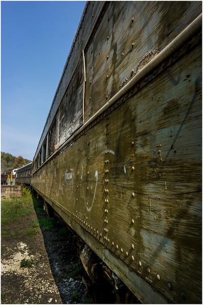 Adirondacks North Creek NY Abandoned Train 2 May 2016