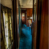 Adirondacks North Creek NY Abandoned Train 8 Hallway of Sleeper Car May 2016