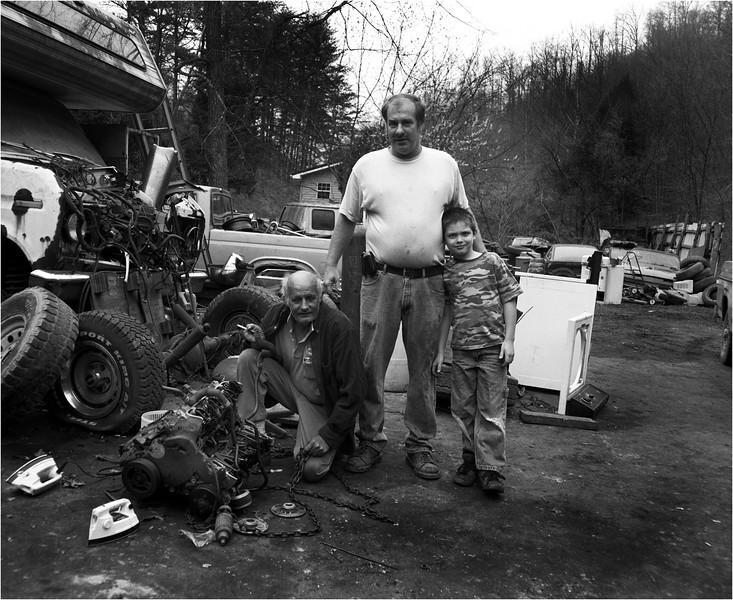 Appalachia West Virginia April 2007 Three Generations
