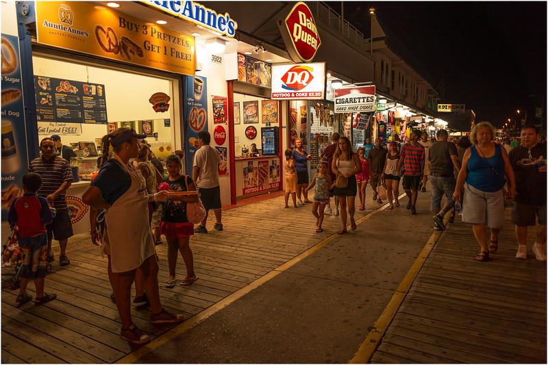 Wildwood NJ Boardwalk at Night 6 September 2012