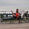 Ocean City NJ Man and Son Bench Boardwalk  July 2009
