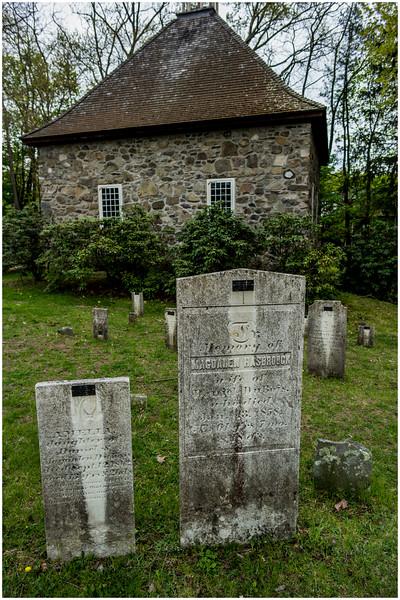 New Paltz NY Huegenot Street Cemetery House 2 April 2016