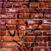 Johnson City NY March 2016 Downtown Brick Grafitti