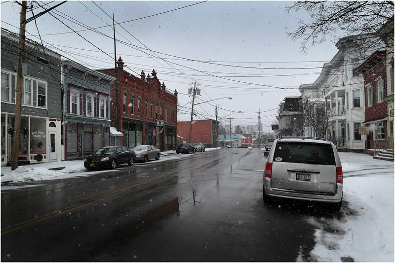 Worcester NY Street Scene 1 January 2014