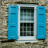 Hurley NY Stone House Day Window and Shutters VanDeusen House July 2016