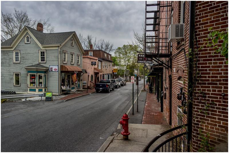 New Paltz NY Church Street Looking North from Main Street April 2016