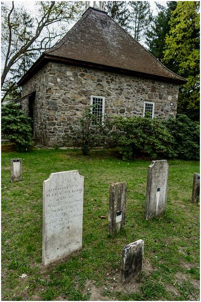 New Paltz NY Huegenot Street Cemetery House 3 April 2016