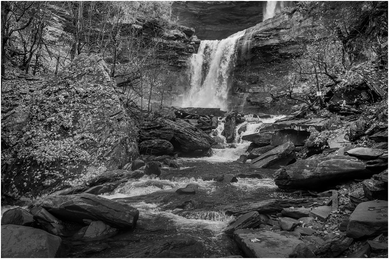 New York Catskills Kaaterskill Falls BW 21 October 2019