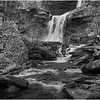 New York Catskills Kaaterskill Falls BW 21 October 2019