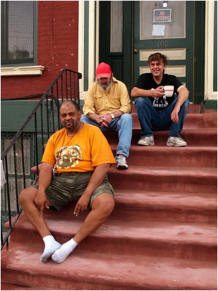 Albany Men On Clinton Avenue Stoop September 2009