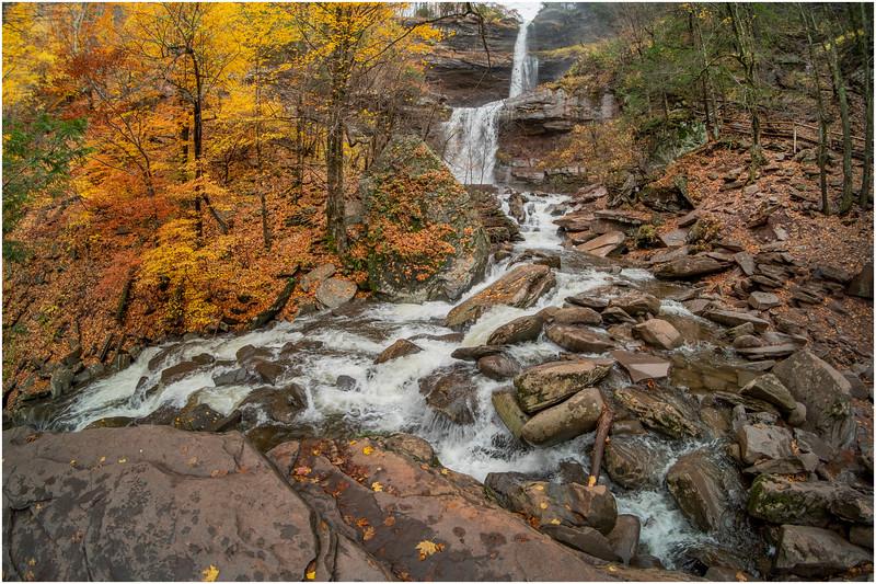 New York Catskills Kaaterskill Falls 18 October 2019