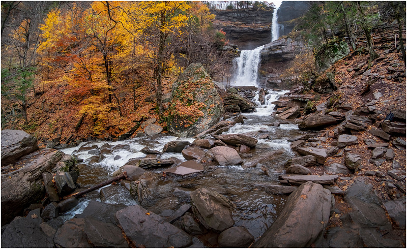 New York Catskills Kaaterskill Falls 15 October 2019