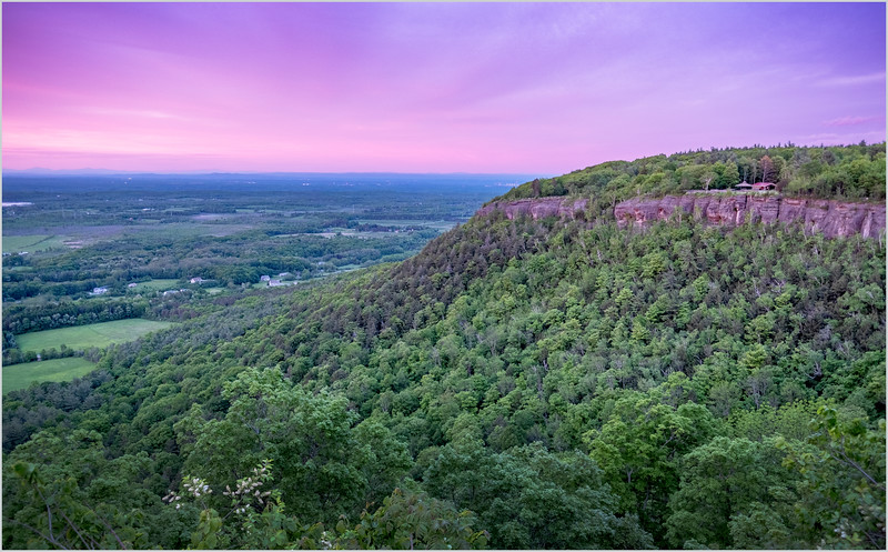 NY New Scotland Thatcher Park Overlook Sunset 1 May 2019