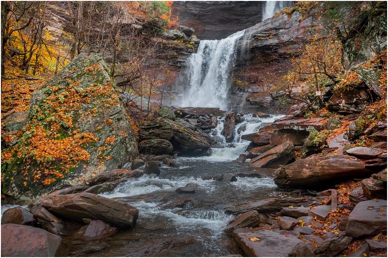 New York Catskills Kaaterskill Falls 21 October 2019