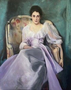 """Study of """"Lady Agnew of Lochnaw"""" after John Singer Sargent (in progress)"""
