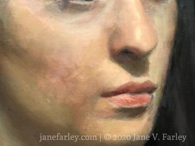 Oil portrait workshop with Cesar Santos at the Florence Studio