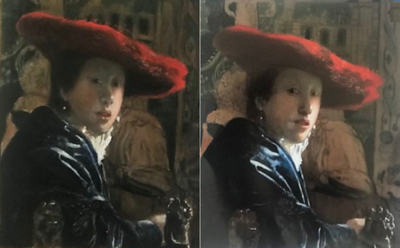 Original and Study of the Girl in the Red Hat