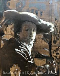 Study of Vermeer's Girl in the Red Hat (in progress)