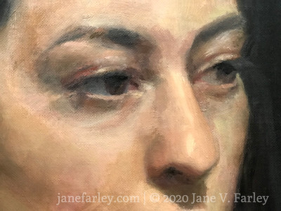 Oil portrait workshop with Cesar Santos at the Florence Studio (Friday)