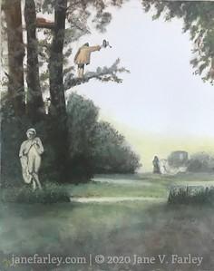 """Study of """"Der Baron Auf Den Bäumen"""""""