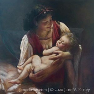"Study of Bouguereau's - ""Lullaby"""