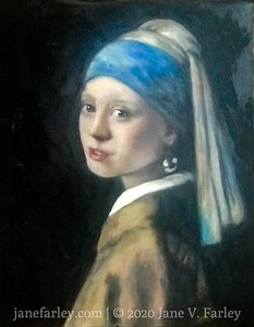 Jane's version of Girl with Pearl Earring