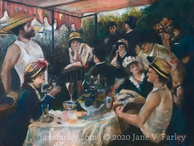 Study of Renoir's 'Luncheon of the Boating Party'  (in progress)