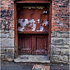 Troy NY Back Alley 31 Peeling Doorway January 2017