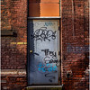 Troy NY Back Alley 19 Brick and Grafitti Door January 2017