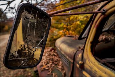 Adirondacks Essex Chain Parking Lot Old Truck Detail 9 October 2013.jpg