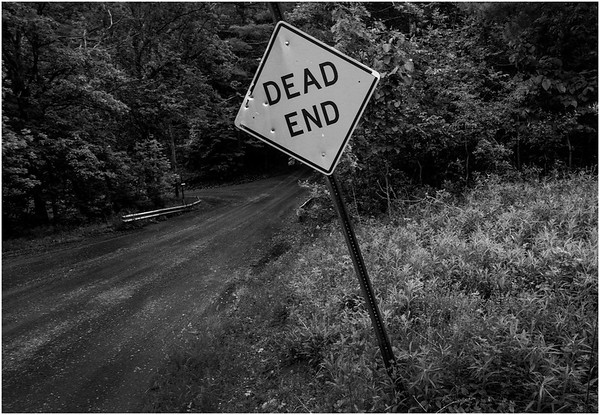 Berne NY Bradt Hollow Dead End BW June 2016