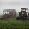 Bethlehem NY Tractor and Haycart in Mist August 2011