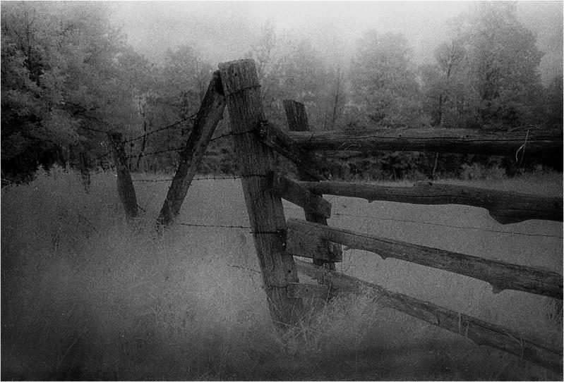 Arlington VT Old Fence 1 IR Film June 1989