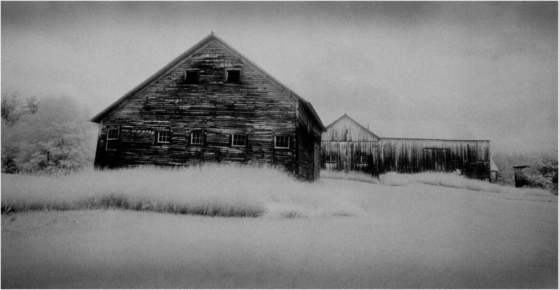 Washington County NY Abandoned Barns 8 IR Film June 1984