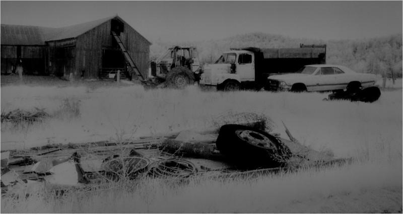Adirondacks Whallonsburg Wrisley Farm 4 IR Film April 1997