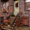 Albany NY Clinton Avenue Flower Stairs October 2008
