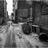 Troy NY Back Alley 20 BW January 2017