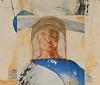 Self Portrait, mixed media, 22 x 30